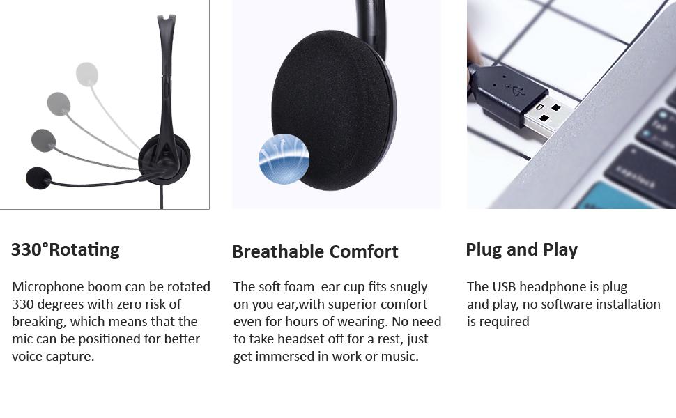 Bigpassport protech USB headset